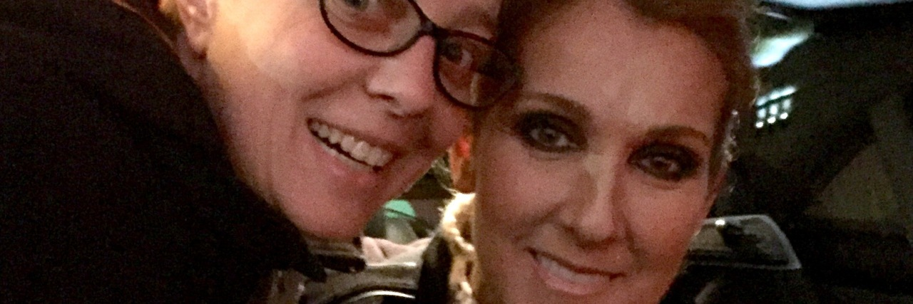 woman with celine dion