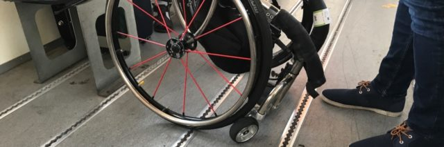 Chris' severely damaged wheelchair after a Jet2 flight to Ibiza.