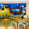 underwater-themed waiting room in a rheumatology office