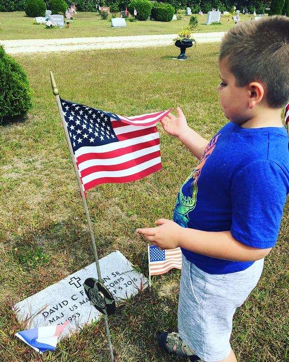 Ellie Fadden father gravestone