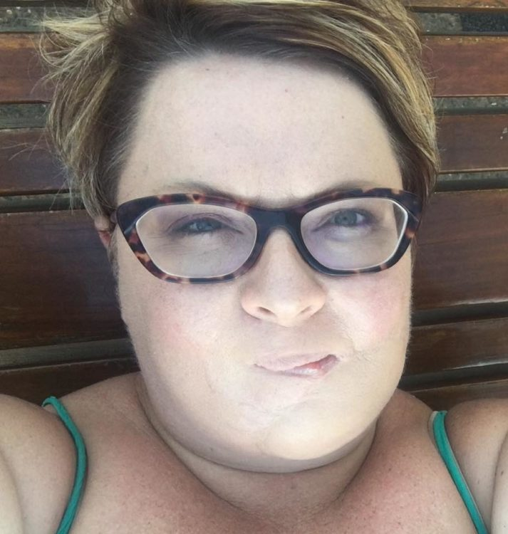 skin cancer survivor close up