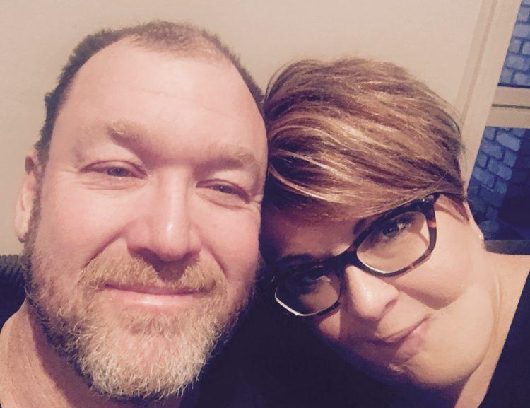 skin cancer survivor and husband