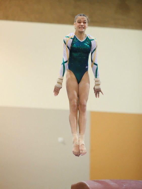 Juliana A gymastics jump