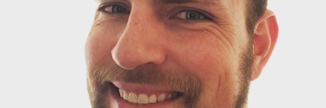 Justin Birckbhichler close up smile