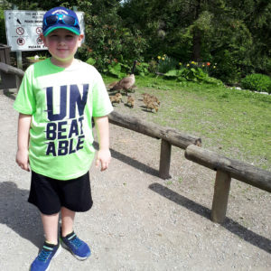 Owen cancer fighter in unbeatable shirt