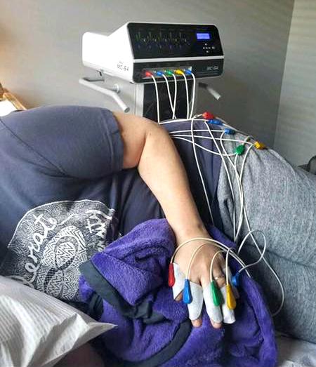 woman receiving scrambler therapy
