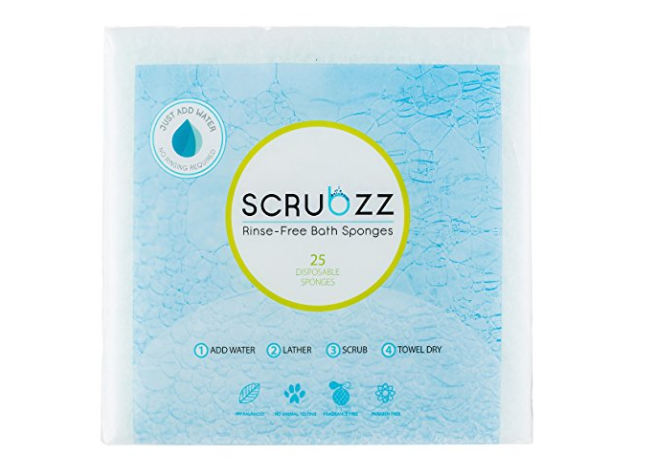scrubzz rinse free bath sponges