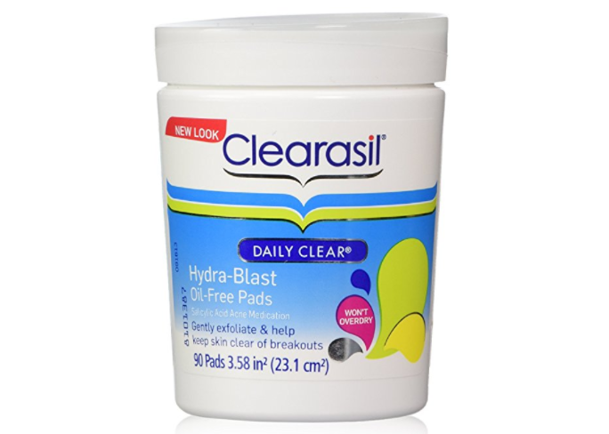 clearasil oil free pad