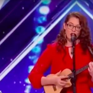 Mandy Hale singing while playing a ukelale