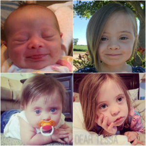 four picture collage of Tessa