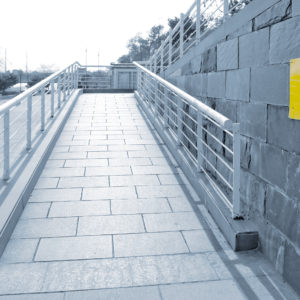 Disabled access wheelchair ramp.