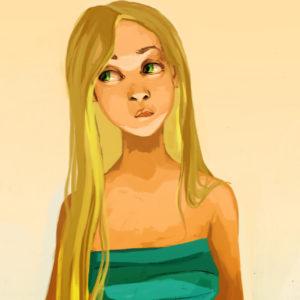 girl long hair