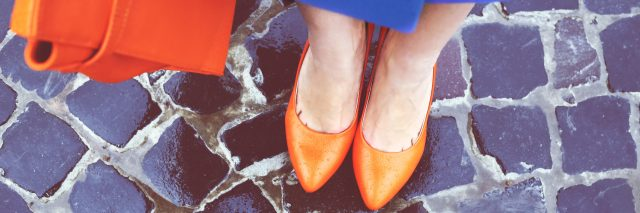Professional woman, view of shoes