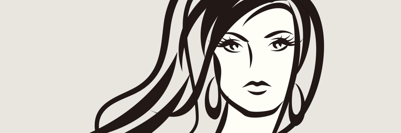 beauty face girl vector