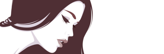 Vector illustration of the beautiful girl with long hair