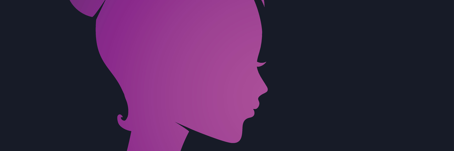 A woman's silhouette in pink.