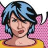 Angry woman pop art.