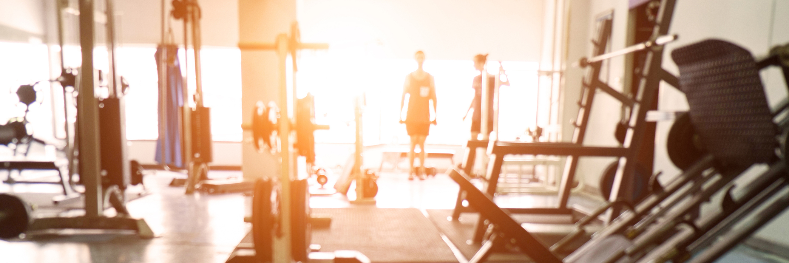 Blurred background of gym.