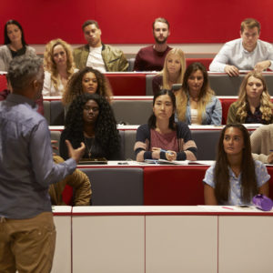 professor lecturing students