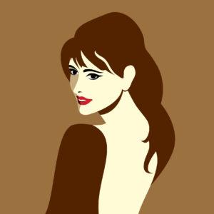 creative vector of fashion women portrait, fashion beauty