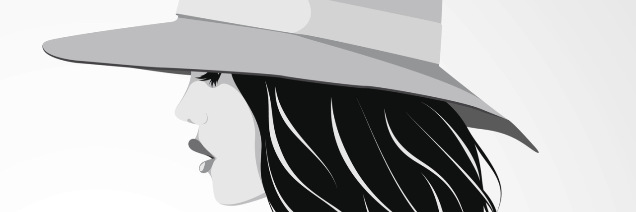 Vector illustration of beautiful girl wearing hat