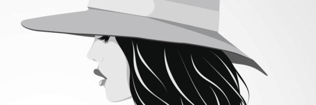 Vector illustration of beautiful girl wearing hat