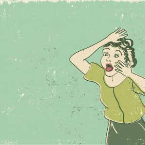 Vintage Screaming Woman vector.