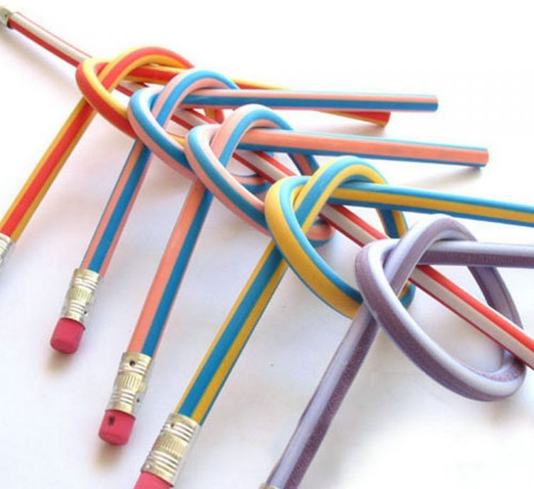 colorful bendy pencils