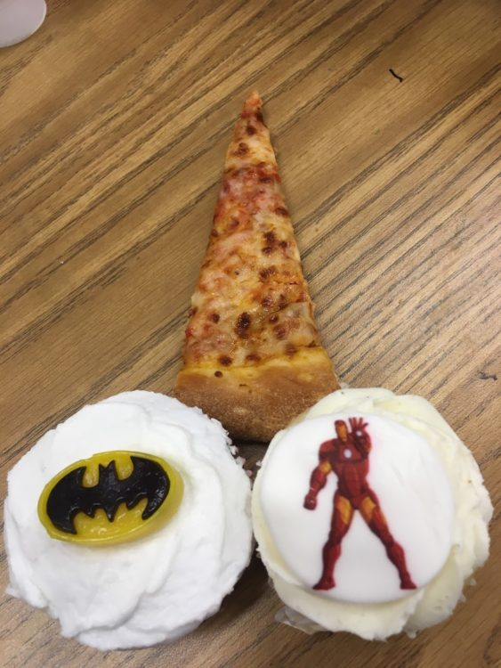 cupcakes and pizza