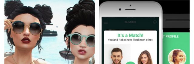 images of second life avatars and glimmer app