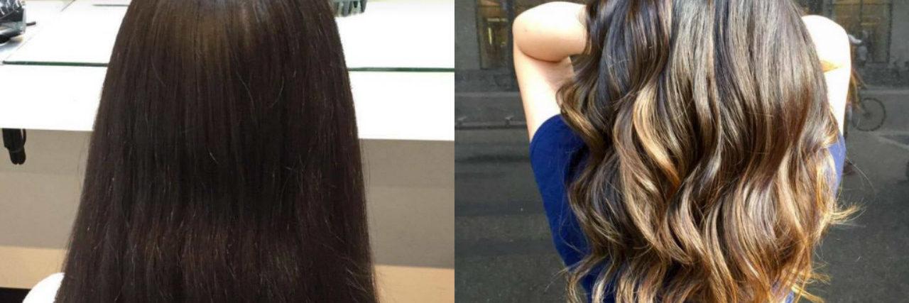 haircut split screen