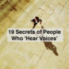 A man running. Text says: 19 secrets of people who hear voices