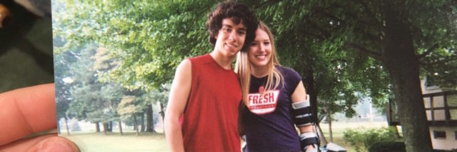 photo of Kevin Walsh and his wife when they were young