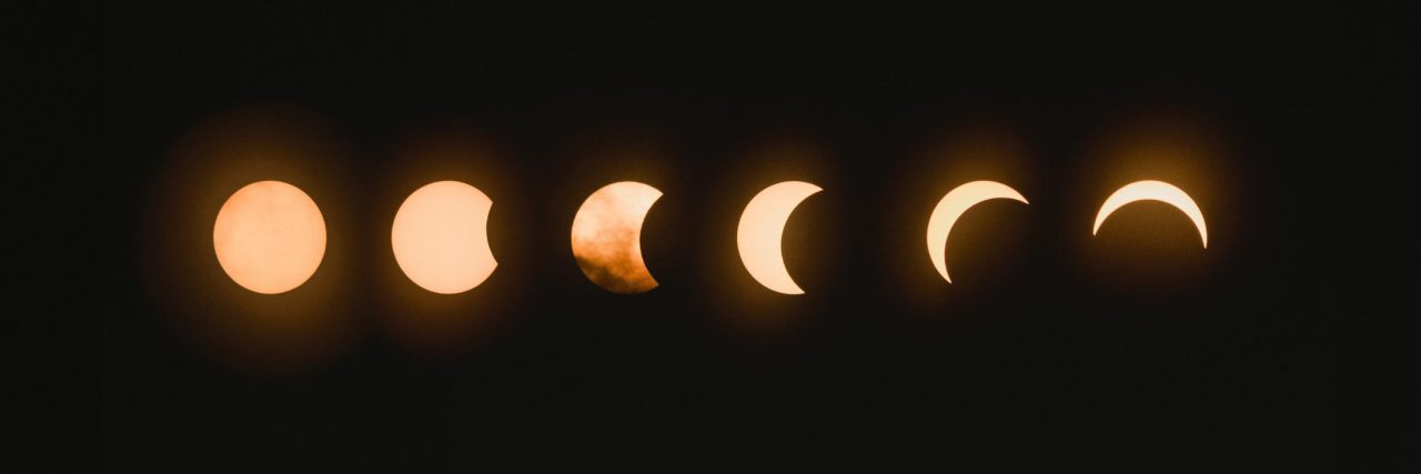 solar eclipse 2017 phases composite on black