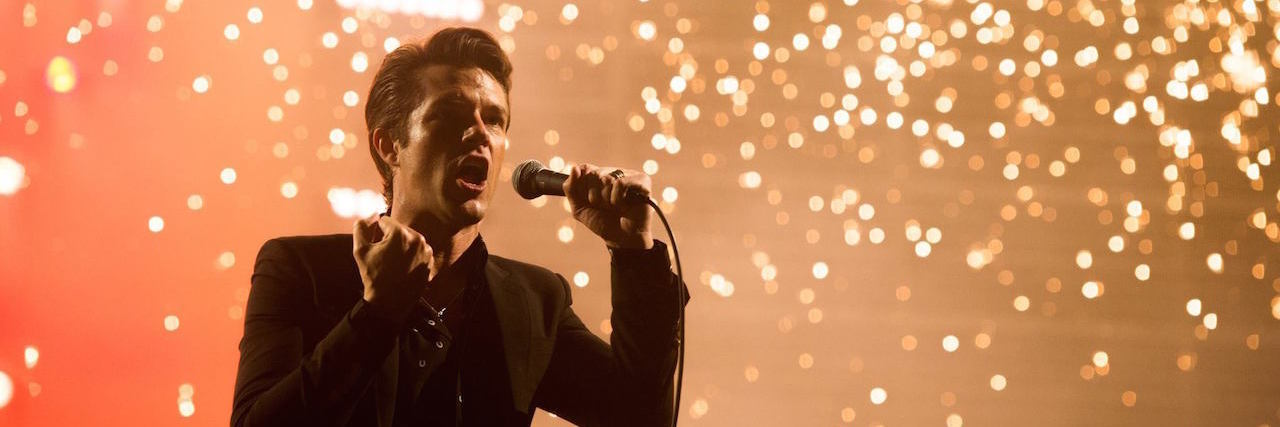 Brandon Flowers performing