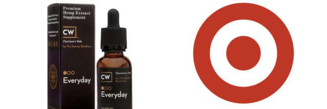 CBD bottle and Target logo