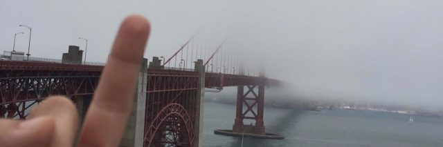 flip off golden gate bridge