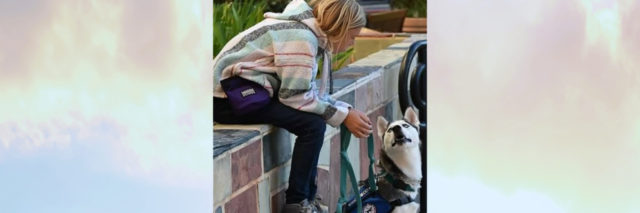 Missy's daughter with her service dog, Echo.