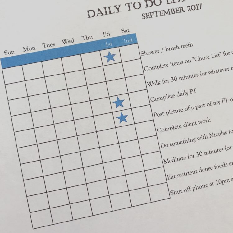 daily to do task list