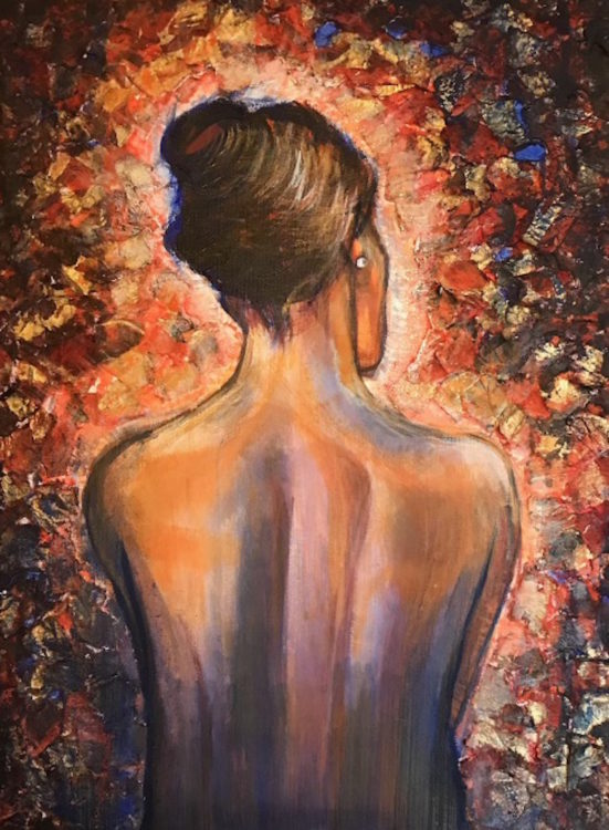 painting of a woman's back by the author