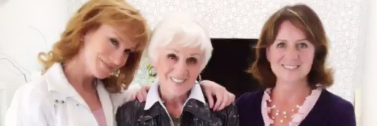 Kathy Griffin, her mom and her sister