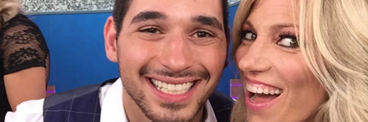 debbie gibson and alan bersten on dancing with the stars set