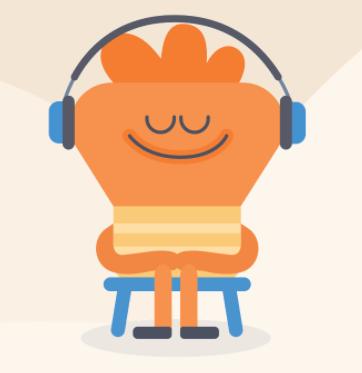 cartoon of a man with headphones