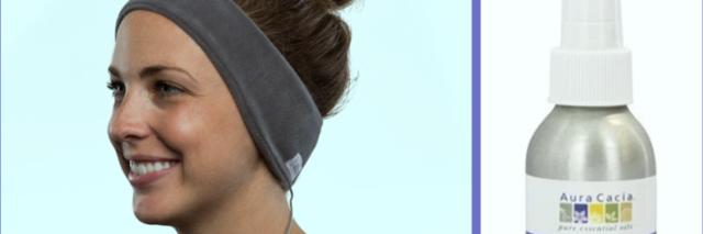 sleep oil and headband