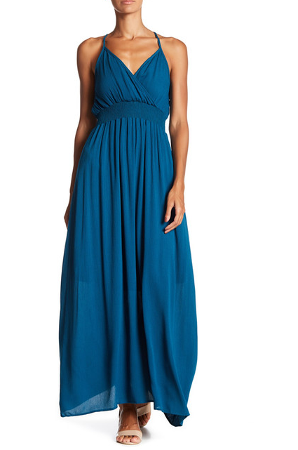 blue maxi dress from nordstrom rack