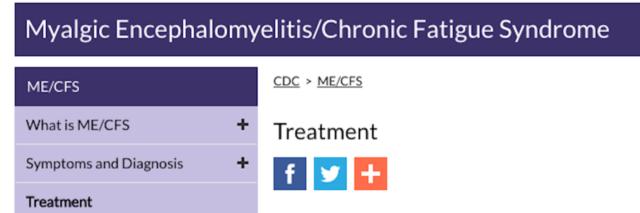 screenshot of cdc me/cfs webpage