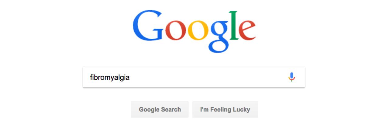 searching 'fibromyalgia' on google