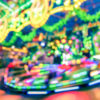 blurred photo of a carnival ride