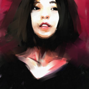 digital painting of a woman