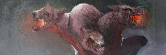 Cerberus from Greek hell